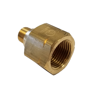 "Female POL x Male 1/4"" NPT - Brass Ada..."