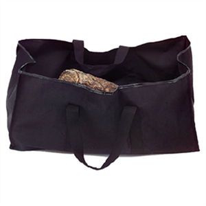 Firewood Log Tote - Black Canvas