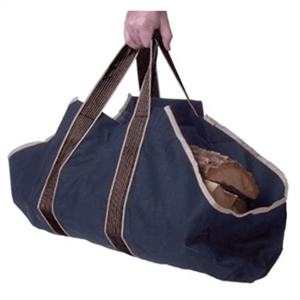 Firewood Log Tote - Blue Canvas
