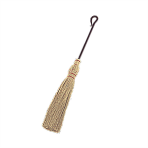 Wrought Iron 28'' Black Corn Broom