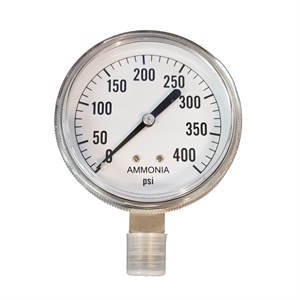 "2-1/2"" Dry Gauge 0-400 PSI - Stainless..."