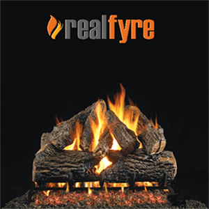 "Peterson Real Fyre 24"" Charred Oak Gas..."