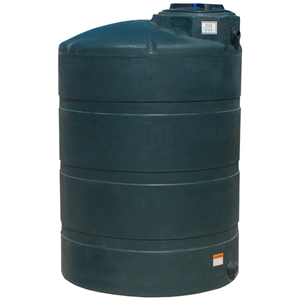 1000 gallon vertical water tank green