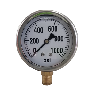 "2-1/2"" Liquid Filled Gauge 0-1000 PSI ..."