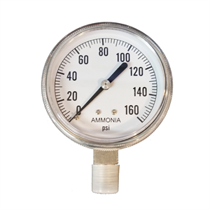 "2-1/2"" Dry Gauge 0-160 PSI - Stainless..."