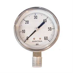 "2-1/2"" Dry Gauge 0-60 PSI - Stainless ..."