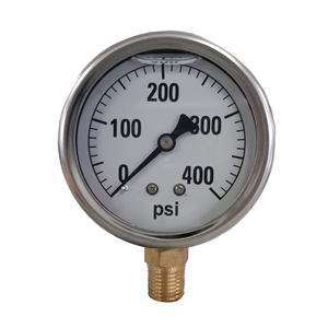 "2-1/2"" Liquid Filled Gauge 0-400 PSI -..."