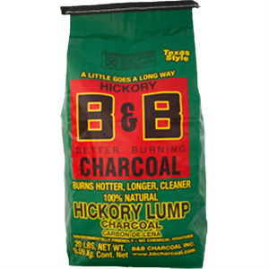 B&B Natural Lump Charcoal Hickory