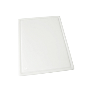 Winco White Grooved Cutting Board