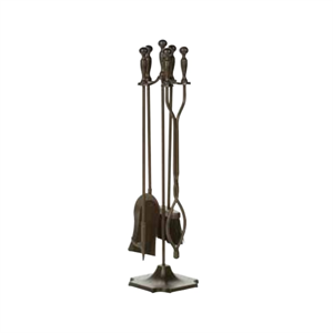 Bronze Finish 5 Piece Fireplace Tool S...