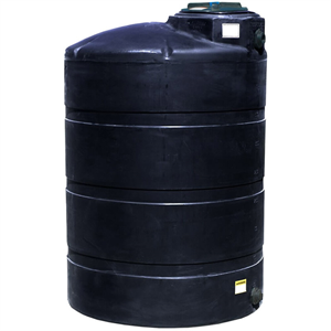 1000 gallon vertical water tank black