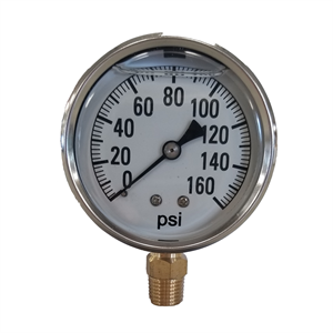 "2-1/2"" Liquid Filled Gauge 0-160 PSI -..."