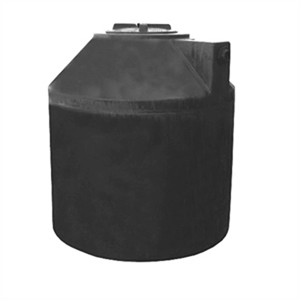 305 gallon vertical water tank black